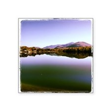 "Mirror Lake Square Sticker 3"" x 3"""