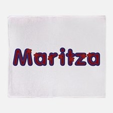 Maritza Red Caps Throw Blanket