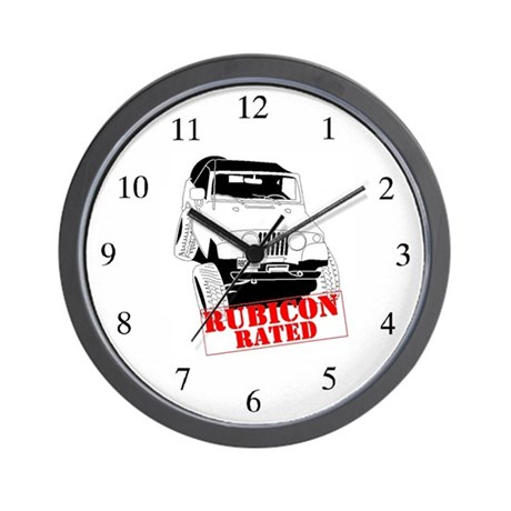 Rubicon Rated Jeepster Wall Clock