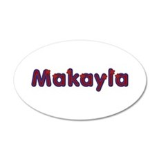 Makayla Red Caps 20x12 Oval Wall Decal