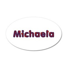 Michaela Red Caps 35x21 Oval Wall Decal
