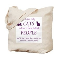 I Love My Cats 2 Tote Bag