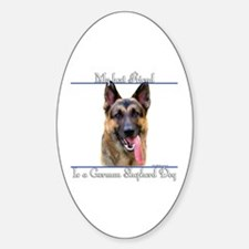 GSD Best Friend2 Oval Decal