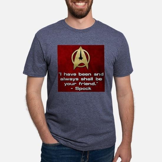 SPOCK YOUR FRIEND Mens Tri-blend T-Shirt