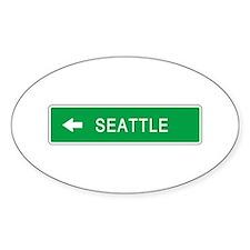 Roadmarker Seattle (WA) Oval Decal