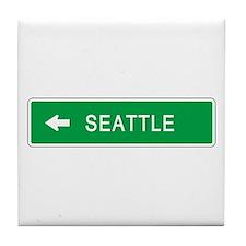 Roadmarker Seattle (WA) Tile Coaster