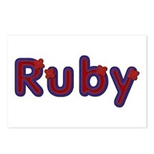Ruby Red Caps Postcards 8 Pack