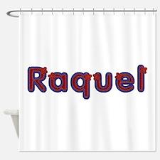 Raquel Red Caps Shower Curtain