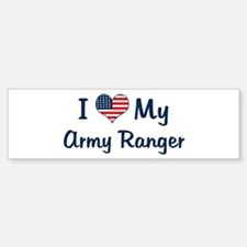 Army Ranger: Flag Love Bumper Bumper Bumper Sticker