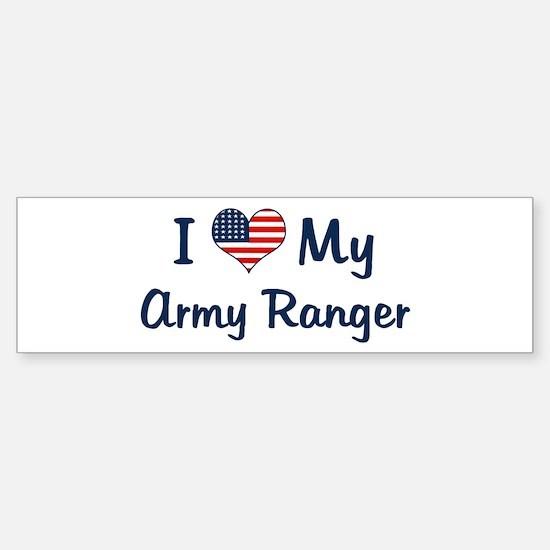 Army Ranger: Flag Love Bumper Bumper Bumper Sticker