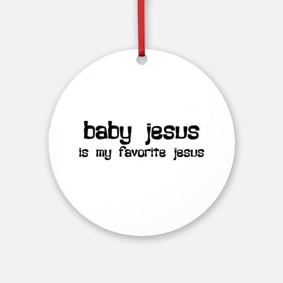 """""""Baby Jesus"""" Ornament (Round)"""