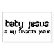 """""""Baby Jesus"""" Rectangle Decal"""