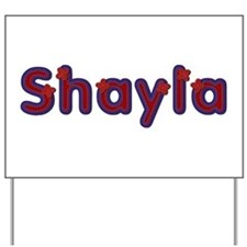 Shayla Red Caps Yard Sign