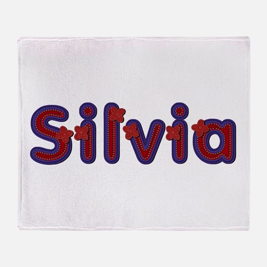 Silvia Red Caps Throw Blanket