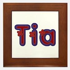 Tia Red Caps Framed Tile