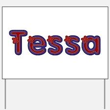 Tessa Red Caps Yard Sign