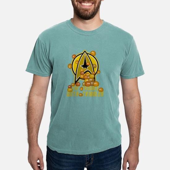 troublewithtribbles01bla Mens Comfort Colors Shirt