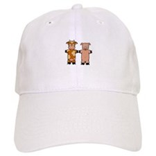 COW AND PIG Baseball Baseball Cap