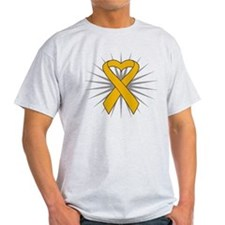 Appendix Cancer Heart Ribbon T-Shirt