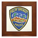 Palm Springs Police Framed Tile