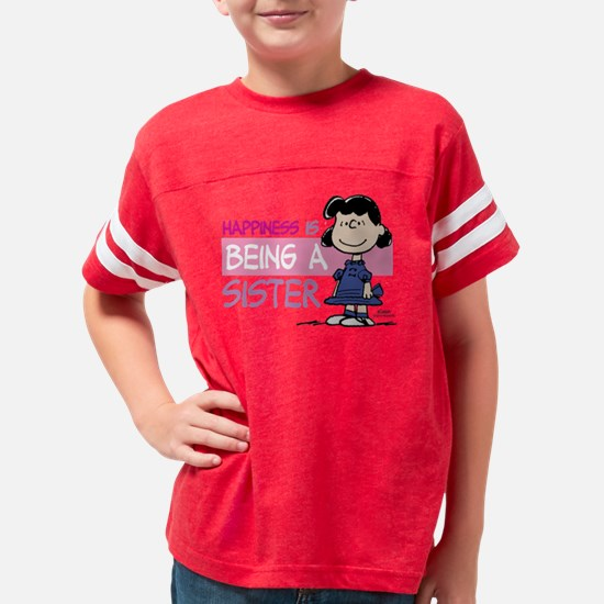 HappinessIsSister Youth Football Shirt