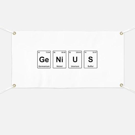 Genius - Periodic Table Banner