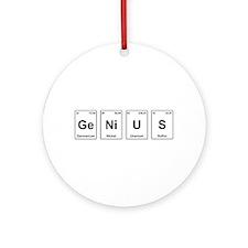 Genius - Periodic Table Ornament (Round)