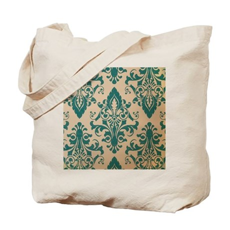 Retro Damask Tote Bag
