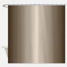 Bronze Metallic Shiny-Looking Shower Curtain