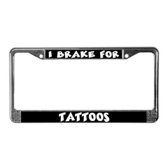 TATTOOS License Plate Frame
