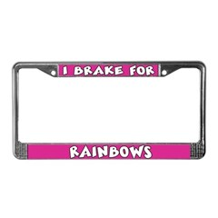 Rainbows License Plate Frame