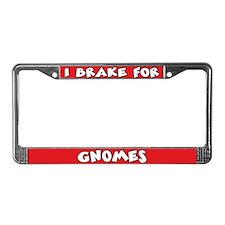Gnomes License Plate Frame