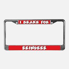 Reindeer License Plate Frame