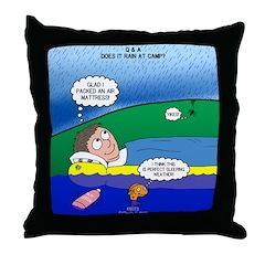 Camp Rain Throw Pillow