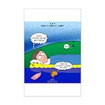 Camp Rain Mini Poster Print