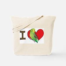 I heart parakeets (Green) Tote Bag