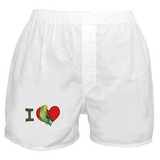 I heart parakeets (Green) Boxer Shorts