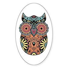 Sugar Skull Owl Color Decal