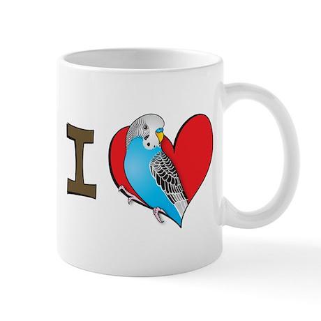 I heart parakeets Mug