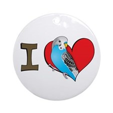 I heart parakeets Ornament (Round)