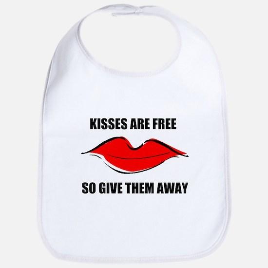 KISSES ARE FREE Bib