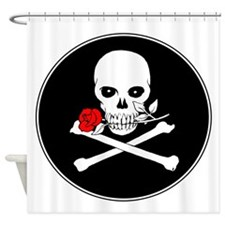 Jolly Roger (Rose) Shower Curtain