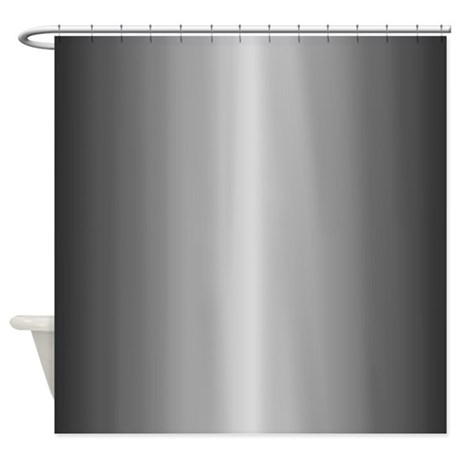 Grey Metallic Shiny Looking Shower Curtain