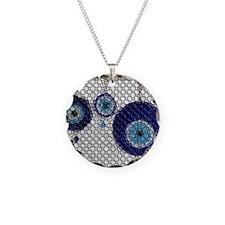 Nazar Necklace Circle Charm
