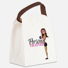 Personal Trainer Fit Girl Canvas Lunch Bag