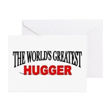 """""""The World's Greatest Hugger"""" Greeting Cards (Pack"""