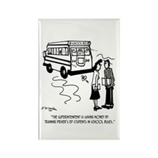 Driver's Ed Uses a School Bus Rectangle Magnet