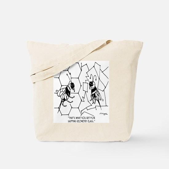 Bee Skips Geometry Class Tote Bag