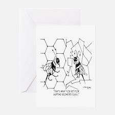 Bee Skips Geometry Class Greeting Card