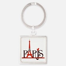 Paris Square Keychain